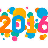 Happy New Year 2016 multicolor background for your Royalty Free Stock Image