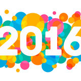 Happy New Year 2016 multicolor background for your Royalty Free Stock Photography