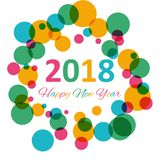 Happy New Year 2018 multicolor background for your greetings card illustration Royalty Free Stock Photos