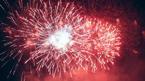 Happy New Year multiple fireworks. stock footage