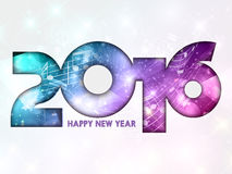 Happy New Year music notes background Stock Photography
