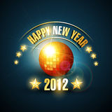 Happy new year music style. Happy new year 2012 music style background Royalty Free Stock Photography