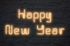 Happy New Year neon lights Stock Image