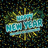 Happy new Year- New Hope new Beginning. Eps10 Vector for the new Year Stock Photos