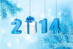 Happy new year 2014! New year design template. Vector illustration Royalty Free Stock Photos