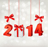 Happy new year 2014! New year design template Stock Photo