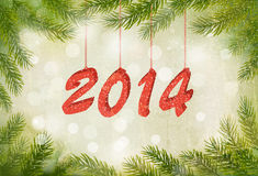 Happy new year 2014! New year design template. Vector illustration vector illustration