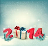 Happy new year 2014! New year design template. Vector illustration stock illustration