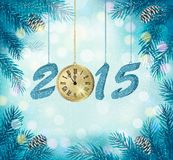 Happy new year 2015! New year design template Royalty Free Stock Photography