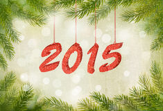 Happy new year 2015! New year design template Stock Image