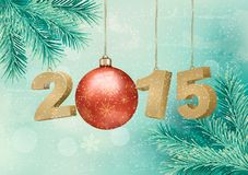 Happy new year 2015! New year design template Stock Photography