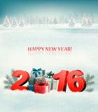 Happy new year 2016! New year design template. Vector illustration Vector Illustration