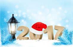 Happy new year 2017! New year design template. Vector illustration Stock Images