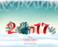 Happy new year 2017! New year design template Stock Photo