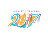 Happy new year 2017 - New Year Holiday Design Elements. For holiday cards,  calendar banner poster for decorations, Vector Illustration Background Royalty Free Stock Image