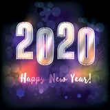 Happy New Year 2020 Illustration. A happy new year 2020 New Year`s message illustration. Vector EPS 10 available Stock Photography