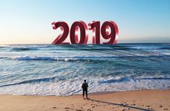 Happy New Year 2019. The next Big thing is coming vector illustration