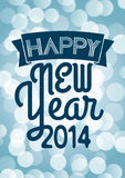 Happy New Year 2014. For a nice greeting card Royalty Free Stock Photography