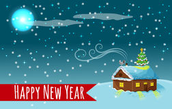 Happy New Year Night Royalty Free Stock Images