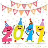 Happy New Year Number Party Stock Photography