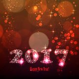 2017 happy new year Royalty Free Stock Photography