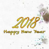 Happy New Year 2018 Numbers Of Years Stock Photos