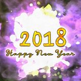 Happy New Year 2018 Numbers Of Years Royalty Free Stock Image