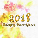 Happy New Year 2018 Numbers Of Years Royalty Free Stock Photography