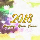 Happy New Year 2018 Numbers Of Years Stock Photo