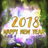 Happy New Year 2018 Numbers Of Years Stock Images