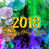 Happy New Year 2018 Numbers Of Years Royalty Free Stock Photo