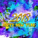 Happy New Year 2018 Numbers Of Years Stock Image