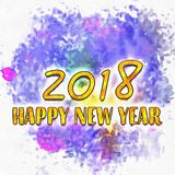 Happy New Year 2018 Numbers Of Years Royalty Free Stock Images