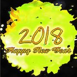 Happy New Year 2018 Numbers Of Years Stock Photography