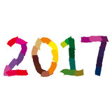 Happy New Year - 2017 Royalty Free Stock Image