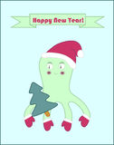 Happy New Year octopus poster Stock Photos