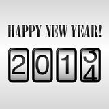 Happy New Year 2014 Odometer Royalty Free Stock Images
