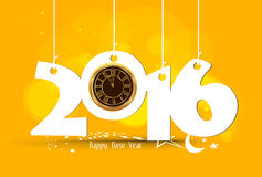 Happy New Year 2016 - Old clock.  Royalty Free Stock Photos