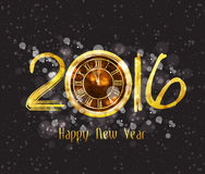 Happy New Year 2016 - Old clock.  Royalty Free Stock Image