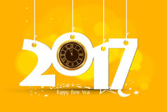 Happy New Year 2017 - Old clock.  Stock Images