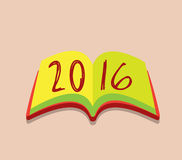 Happy new year 2016 open the book Stock Photo