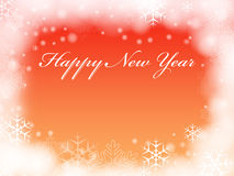 Happy New Year in orange Royalty Free Stock Image