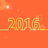 2016 Happy New Year on orange background. Stock vector royalty free illustration