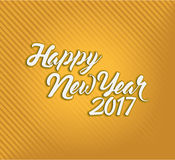 Happy new year 2017 orange and gold Stock Photos