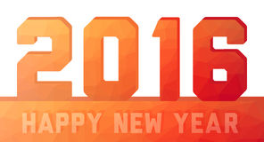 Happy new year 2016  orange - red card. Happy new year 2016 unusual orange - red card Royalty Free Stock Photos