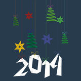 Happy New Year origami background Royalty Free Stock Images