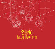 Happy new year 2016 ornament balls.  royalty free illustration