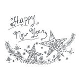 Happy new year ornament, vector illustration. Vector illustration of Happy new year ornament vector illustration