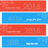Happy new year 2016 outline design. Happy new year banners. Stock Photography
