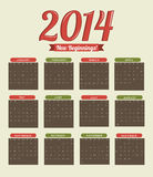 Happy new year 2014. Over beige  background  vector illustration Royalty Free Stock Images